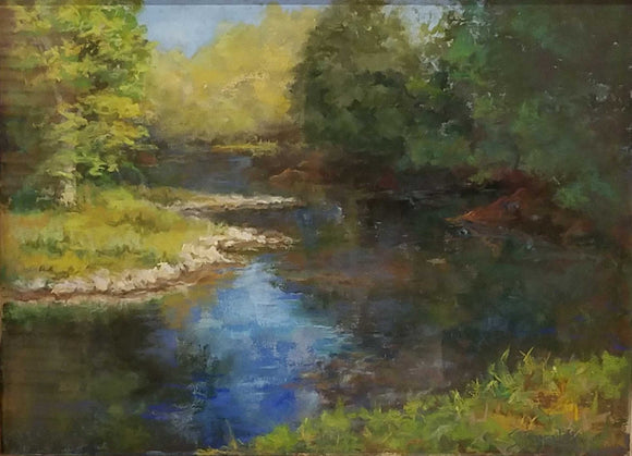 Lick Creek By The Park Pastel Painting by Susie Byerley