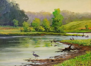 Life On The Lake Oil Painting by J. Rodney Reveal