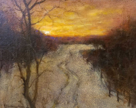Long Road Home Oil Painting by Karen Graeser
