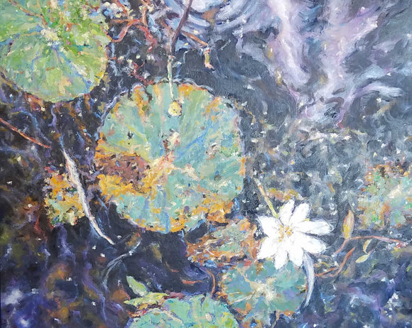 Painting: Milky Way Lilies Artist: Thomas A. Himsel Medium: Oil   Size: 24