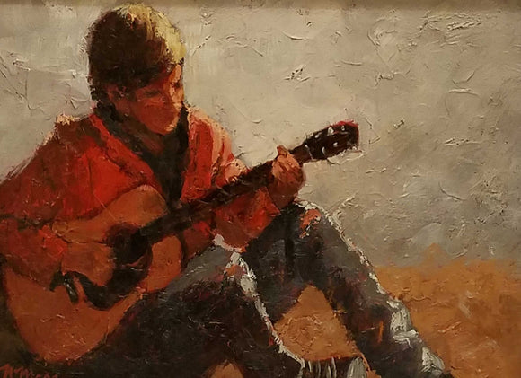 Music Everywhere Oil Painting by Norene Mara