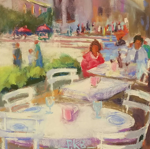 Paris Lunch Oil Painting by Pat Bardes