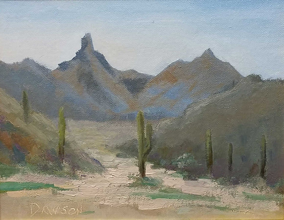 Pinnacle Peak Oil Painting by Steve Dawson