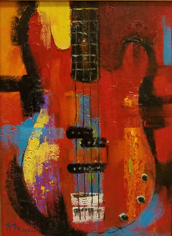 Red Hot Bass Oil Painting by Norene Mara