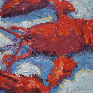 Red Hot Oil Painting by Kathy Blankenheim