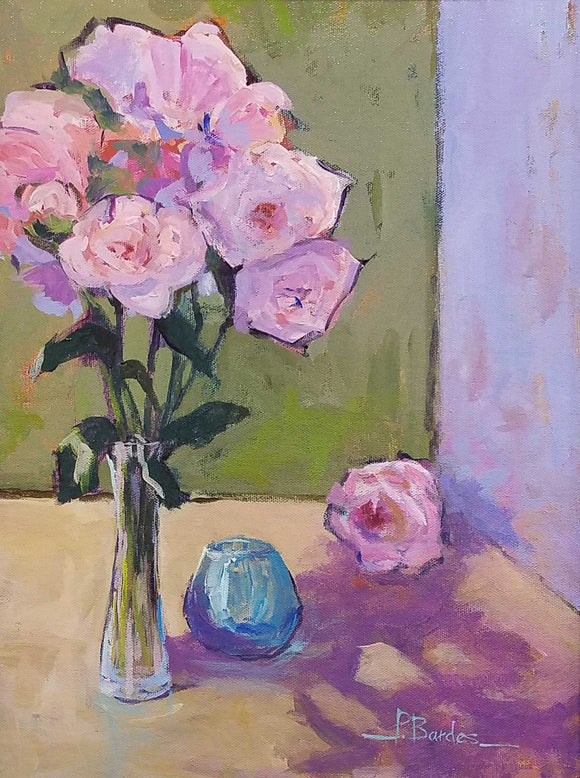 Roses With Love Acrylic Painting by Pat Bardes