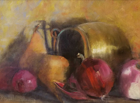 Spilled Bounty Oil Painting by Pamela Campbell