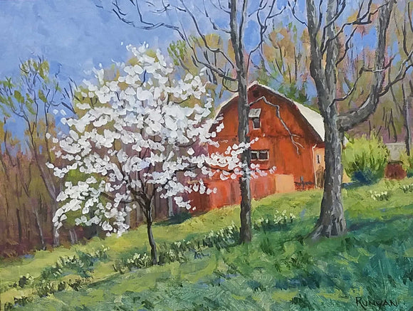 Spring at Steele's Acrylic Painting by Douglas Runyan