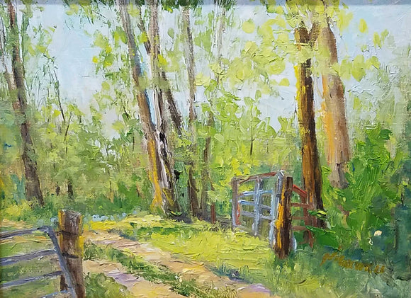 Spring Walk Oil Painting by Nancy Maxwell