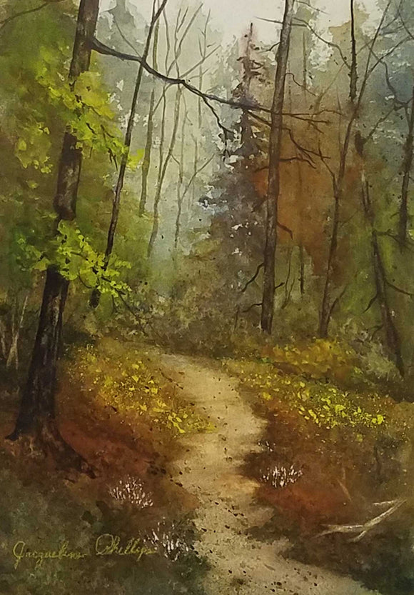 State Park Watercolor Painting by Jacqueline Phillips