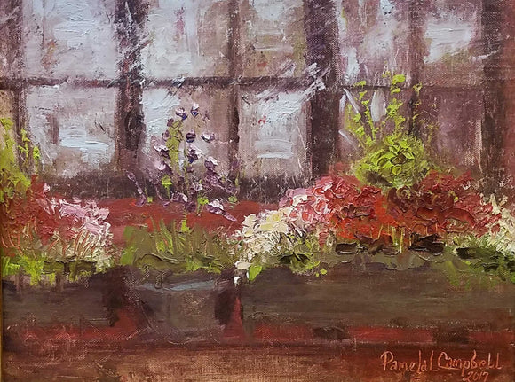 Steele's Window Oil Painting by Pamela Campbell