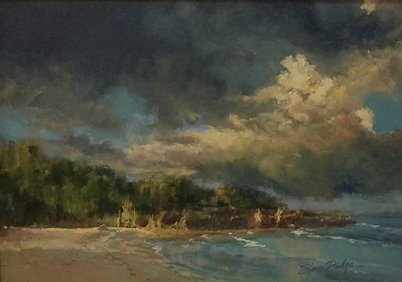 Storm Over Japan Oil on Canvas by Steve Dodge