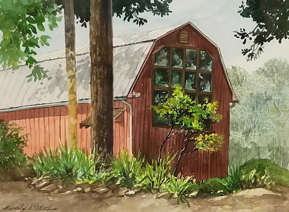 TC Steele Studio Watercolor Pleinair Painting by Beverly S. Mathis