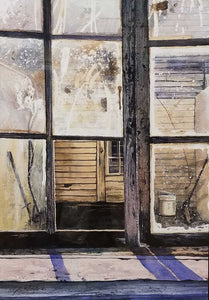 The Backdoor of Drapers Farm Watercolor Painting by Stephen Edwards