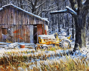 The Farmall Club Acrylic Painting by Luke Buck
