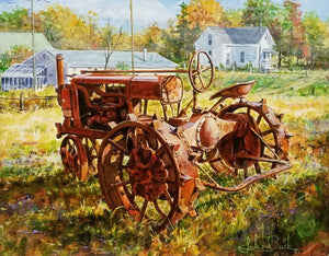 Vintage Farmall Acrylic Painting by Luke Buck