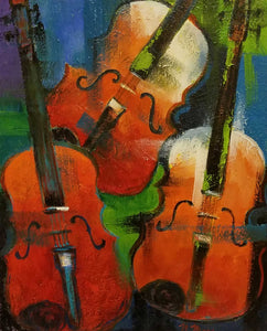 Violins Oil Painting by Norene Mara