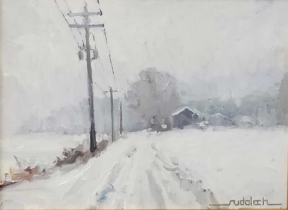 Title: Whiteout Artist: Lawrence Rudolech Medium: Oil  Size: Framed
