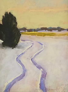 Winter Solitude Pastel Painting by Carol Stock Wasson