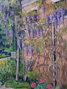 Wisteria Oil on Canvas Painting by Raymond Turner