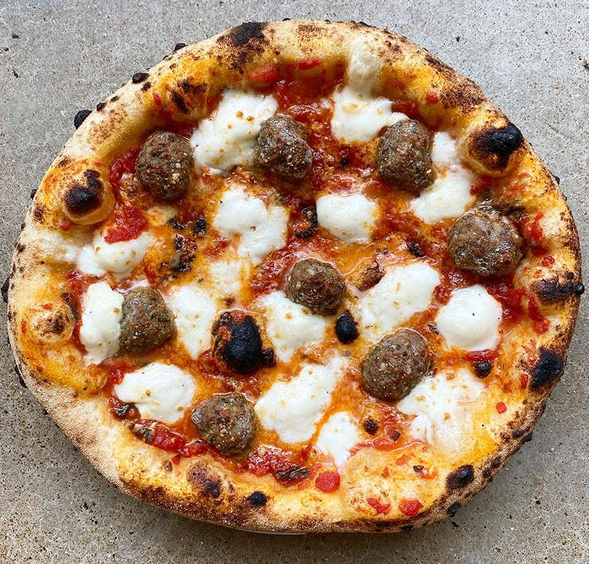 TWO (2) WOOD FIRED MEATBALL PIZZAS