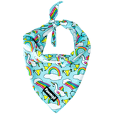 Pool party floatie themed dog cooling bandana