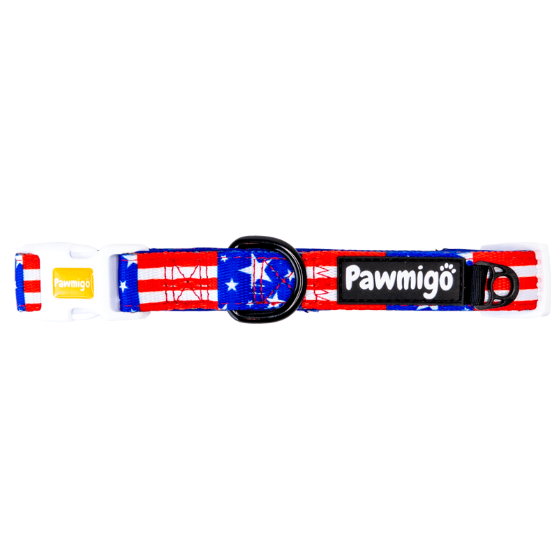 USA patriotic stars and stripes dog cooling bandana