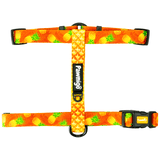 Pineapple print adjustable dog strap harness