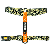 Cheetah and giraffe print adjustable dog strap harness