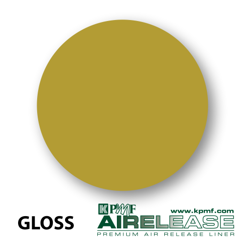 gloss gold film kpmf air release vinyl