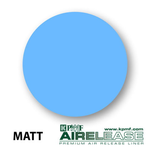 matt sky blue film kpmf air release vinyl