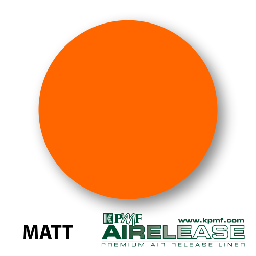 matt sunset orange film kpmf air release vinyl