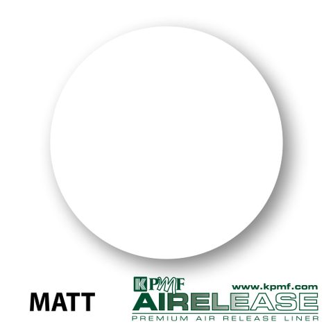 matt white film kpmf air release vinyl