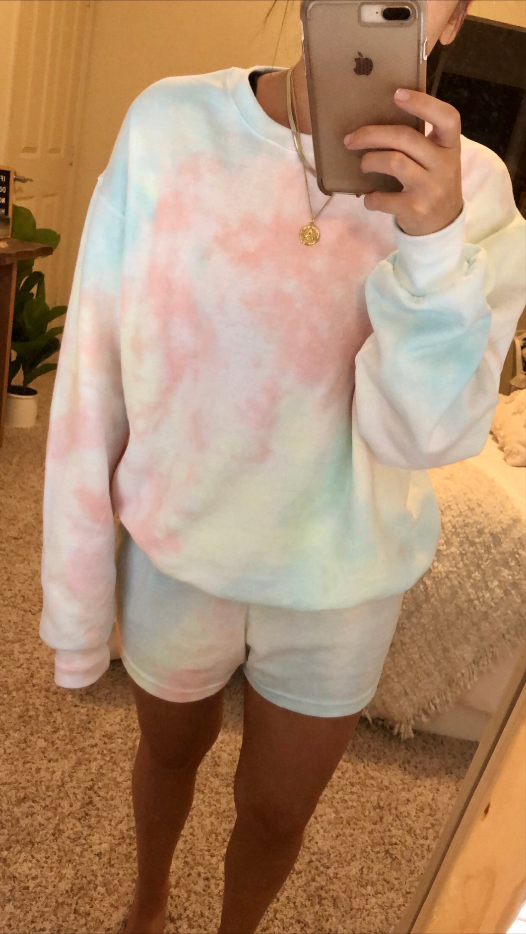 Multi-color Tie Dye Sweat Set (only 1 available)