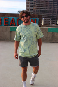 Green and Blue Tie Dye Tee (Pre-Order)