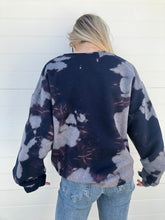 Load image into Gallery viewer, Navy Tie Dye Cleveland Sweatshirt - One of a kind