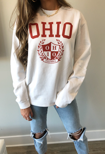 Old School Ohio Crew - White