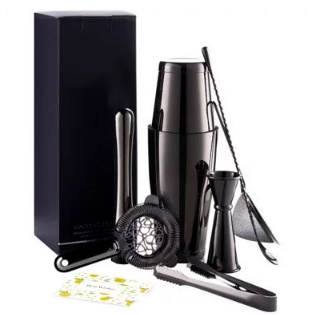 Black Stainless Steel Barware Set (7 Piece)