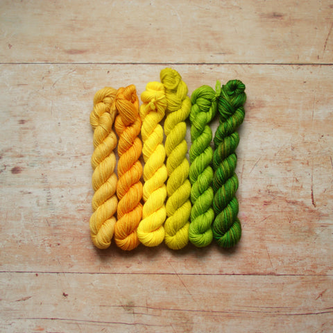 Rainbow Minis Collection :: 6 DK mini skeins