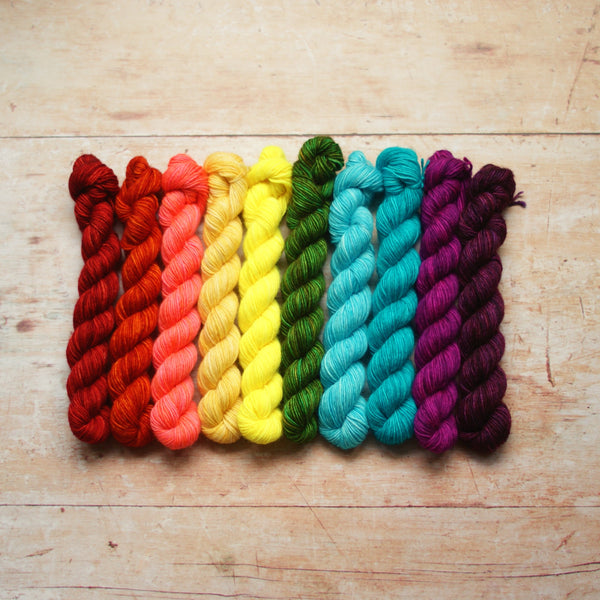 Rainbow Minis Collection :: 10 mini skeins