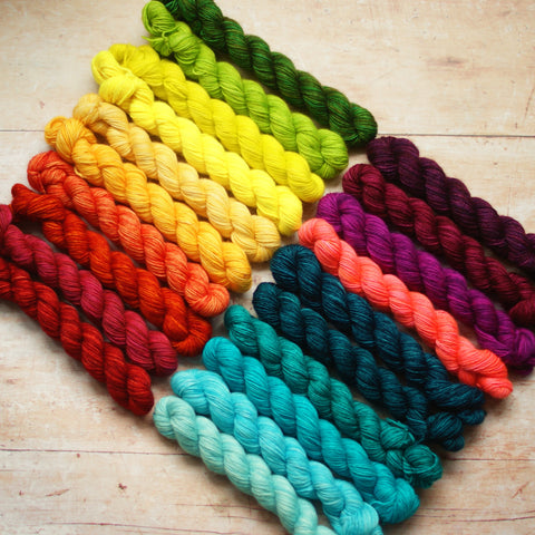 Rainbow Minis Collection :: 20 mini skeins