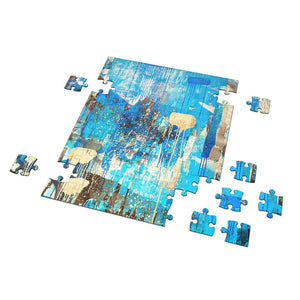 "Abstract ""Blue Monday"" Puzzle"