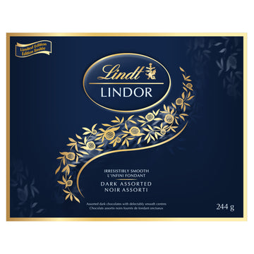 Lindt LINDOR Assorted Dark Chocolate Truffles Box 244g (Delivery Only)