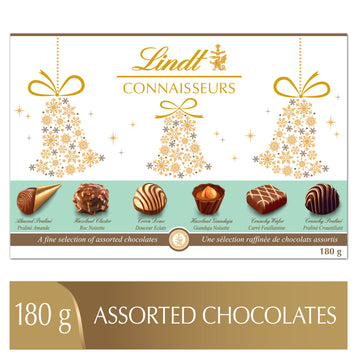 Lindt CONNAISSEURS Assorted Chocolates Gift Box 180g