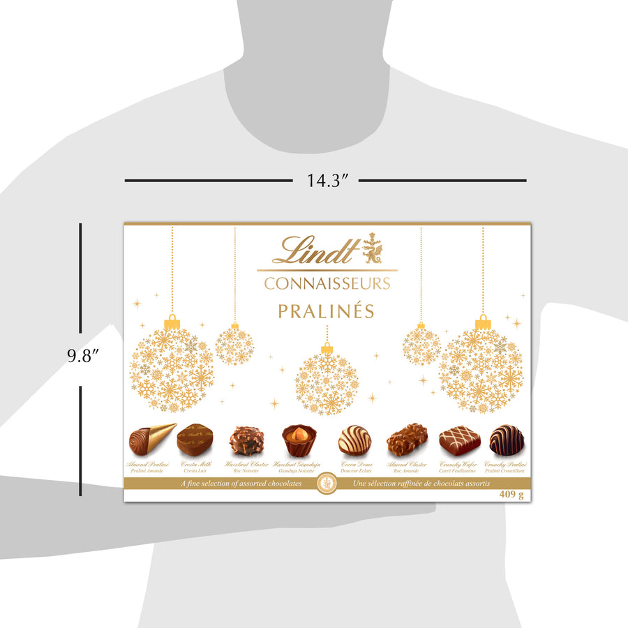 Lindt CONNAISSEURS PRALINÉS Assorted Chocolate Pralines Box 409g