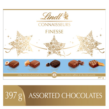 Lindt CONNAISSEURS FINESSE Assorted Chocolates Box 397g