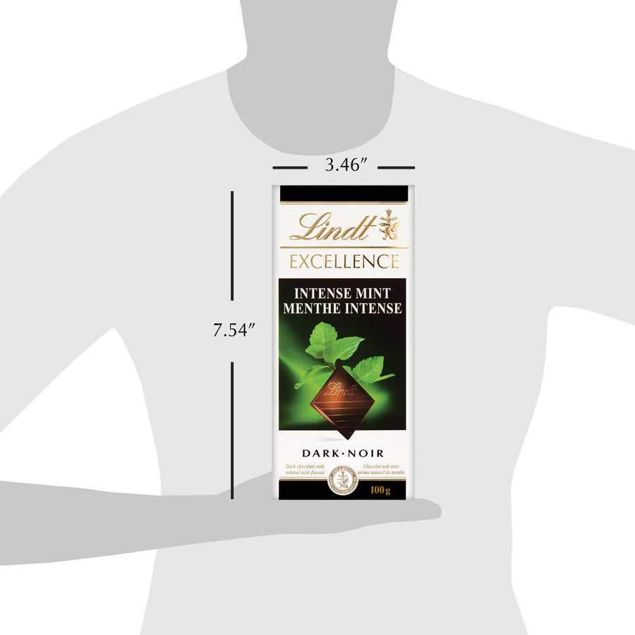 Lindt Excellence Intense Mint Bar 100g