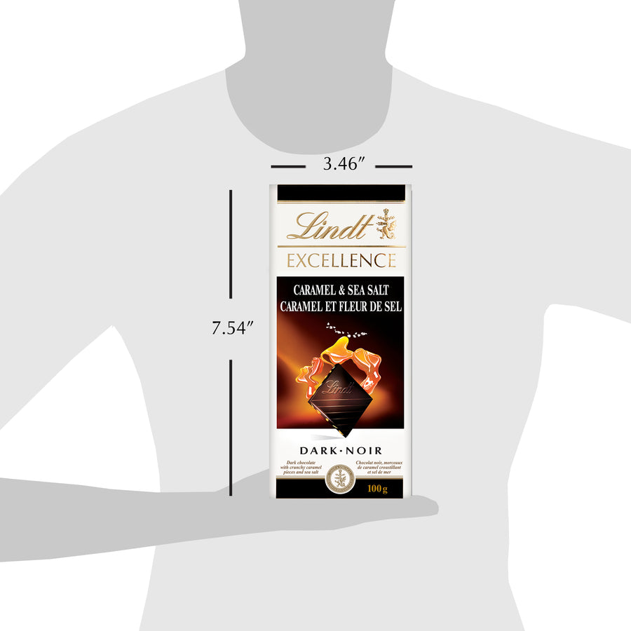 Lindt Excellence Dark Chocolate Caramel & Sea Salt Bar 100g