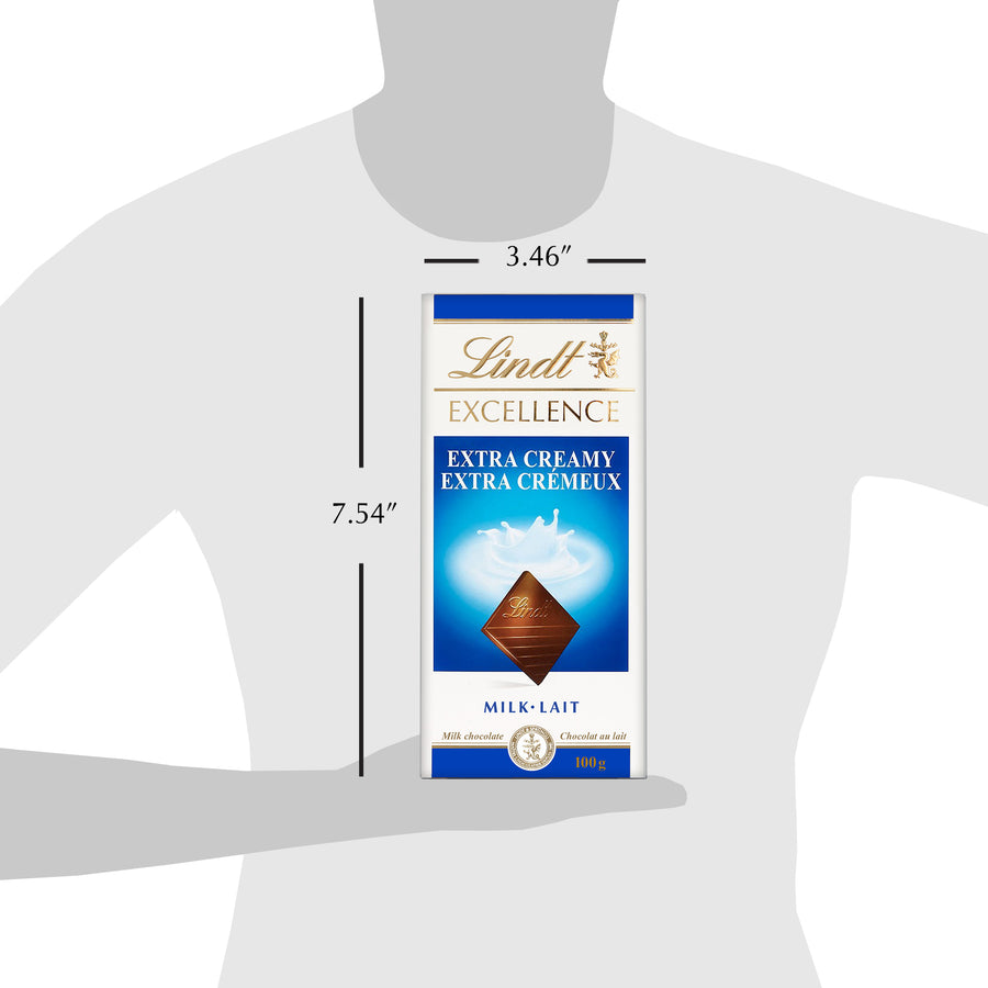 Lindt Excellence Extra Creamy Milk Chocolate Bar 100g