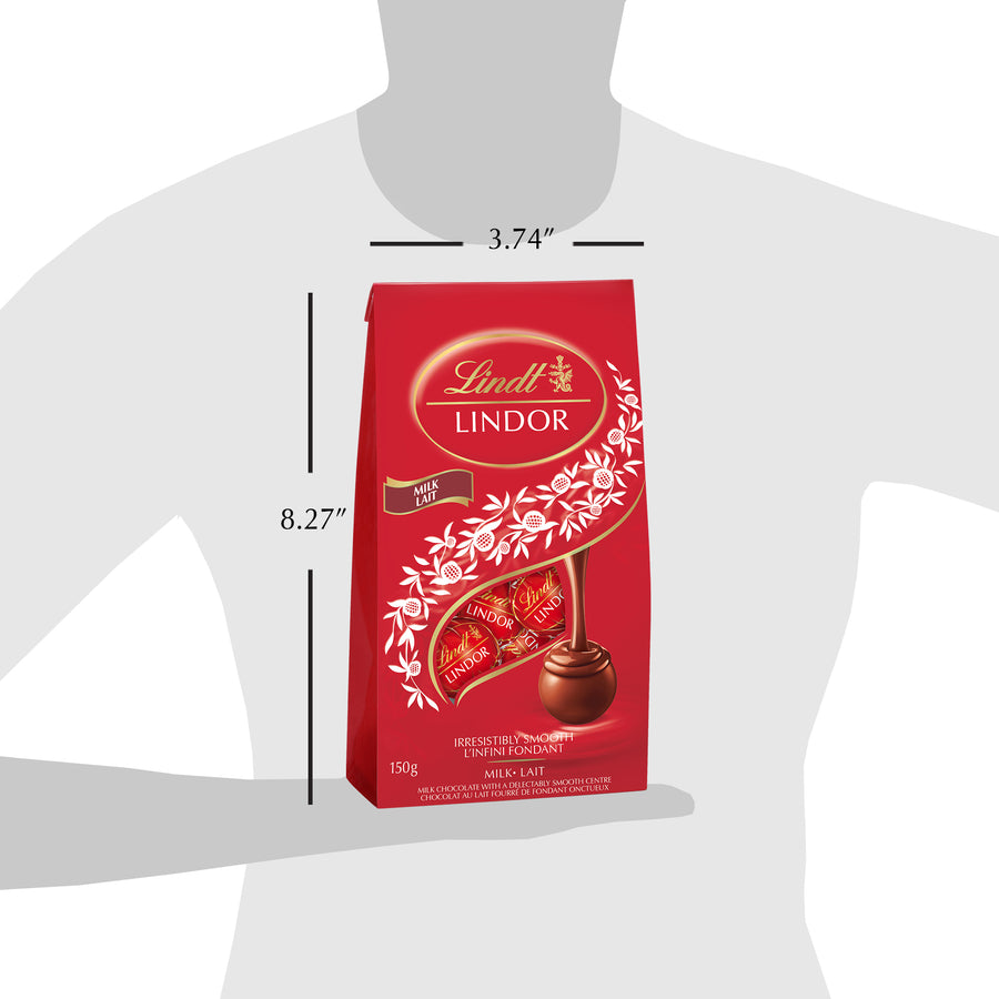 Lindt Lindor Milk Chocolate Truffles Bag, 150g